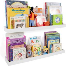Wallniture Philly Nursery Bookshelf - Floating Book Shelves for Kids Room - 31 Inch Picture Ledge... | Amazon (US)