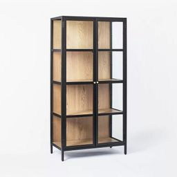 """60"""" Crystal Cove Glass Cabinet Black - Threshold™ designed with Studio McGee 