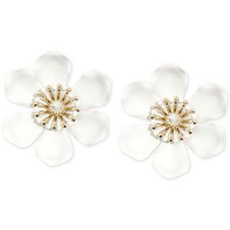 Zenzii Gold-Tone & Suede-Painted-Finish Lily Statement Earrings  & Reviews - Earrings - Jewelry &... | Macys (US)