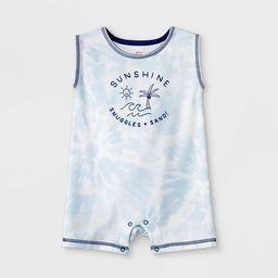 Baby Boys' Sunshine Tie-Dye Romper - Cat & Jack™ Gray | Target
