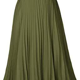 Kate Kasin Women's High Waist Pleated A-Line Swing Skirt KK659   Amazon (US)