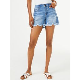 Scoop Women's Retro Boy Fray Hem Shorts   Walmart (US)