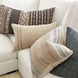 Baron Lumbar Pillow Cover   Pottery Barn (US)