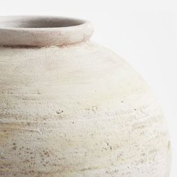 Artisan Hand Painted Terra Cotta Vase Collection - White   Pottery Barn (US)