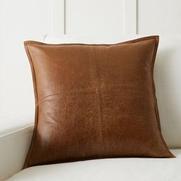 Pieced Leather Pillow Covers   Pottery Barn (US)