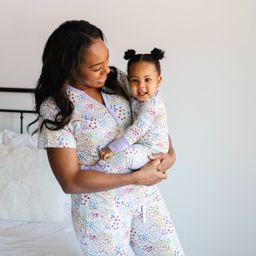 Flower Fields Women's Short Sleeve Bamboo Viscose Pajama Top - FINAL SALE   Little Sleepies
