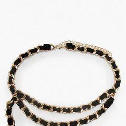 Suede & Chain Double Layer Waist Belt   Boohoo.com (UK & IE)