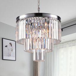 Eitzen 7 - Light Unique Tiered Chandelier with Crystal Accents   Wayfair North America