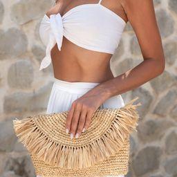 Tassel Raffia Clutch Handbag, Tassel Clutch, Natural Clutch, Straw Beach Bag, Raffia Clutch, Beig...   Etsy (US)