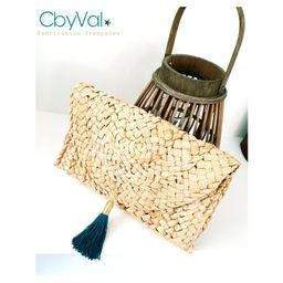 Handbag - Braided straw pouch   Etsy (US)