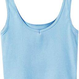 SweatyRocks Women's Sleeveless Casual Ribbed Knit Shirt Basic Crop Tank Top   Amazon (US)