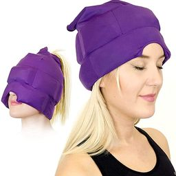 Headache and Migraine Relief Cap - A Headache Ice Mask or Hat Used for Migraines and Tension Head... | Amazon (US)