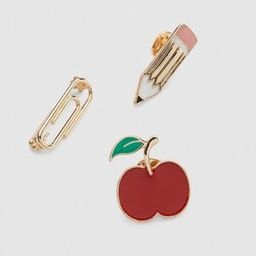 Back to School Pins 3-Pack | Lane Bryant (US)