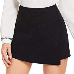 SheIn Women's Casual Asymetric Hem Wrap Skirts Shorts Plain Skorts   Amazon (US)