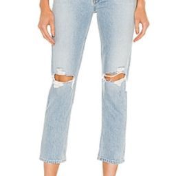 AGOLDE Riley High Rise Straight Crop in Clear Skies from Revolve.com | Revolve Clothing (Global)