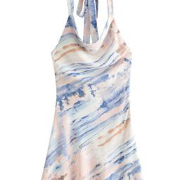 'Maddy' Tied Neck Marble Print Dress   Goodnight Macaroon
