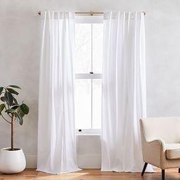 Cotton Canvas Curtain - White (Set of 2)   West Elm (US)