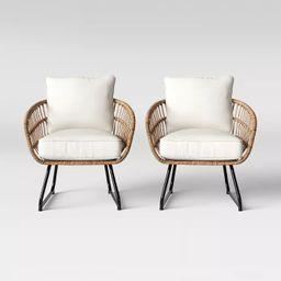 Southport 2pk Patio Club Chair Linen - Opalhouse™ | Target