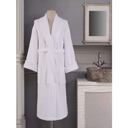 Hygge Bathrobes, 100% Cotton Terry Cloth Robes for Women and Men - White Robe (L) | Walmart (US)