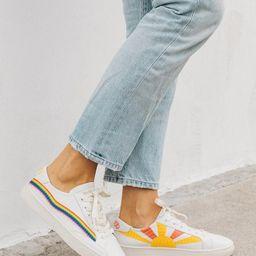 Rainbow Wave Sneaker                            $139 | Soludos