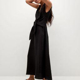 Lyocell dress with belt | MANGO (US)