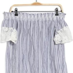 Stripe Off-The-Shoulder Lace Top | Nordstromrack | Nordstrom Rack