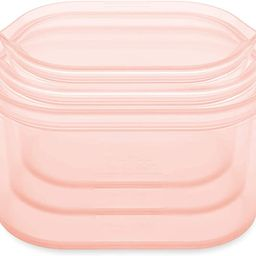Zip Top Reusable 100% Silicone Food Storage Bags and Containers, Made in the USA - 3 Dish Set - P... | Amazon (US)