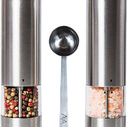 KSL Electric Salt and Pepper Grinder Set - Battery Operated Mill, Automatic Powered Shakers w/Lig... | Amazon (US)