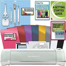 Cricut Explore Air 2 Machine Bundle Beginner Guide, Tool Kit, Vinyl Pack, Designs and Project Ins...   Amazon (US)