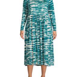 Terra & Sky Women's Plus Size Tie Dye Baby Doll Dress | Walmart (US)