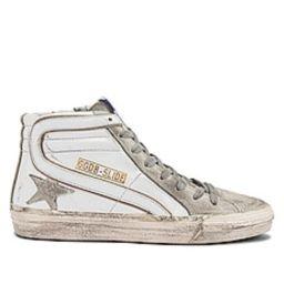 Golden Goose Slide Sneaker in White & Ice from Revolve.com | Revolve Clothing (Global)
