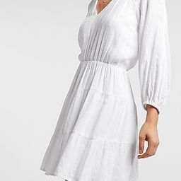 Embroidered Balloon Sleeve Fit And Flare Dress | Express