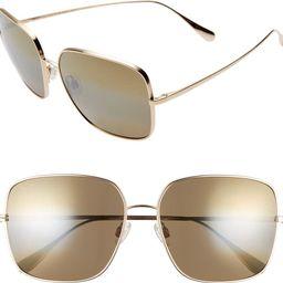 Triton 61mm PolarizedPlus2® Mirrored Square Sunglasses | Nordstrom