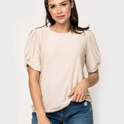 Twisted Sleeve Pin Dot Top | Gibson