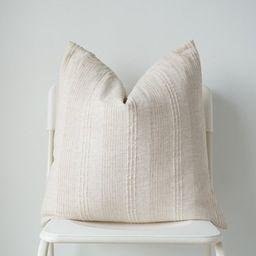 Neutral Hemp hand woven Pillow Cover | Etsy | Etsy (US)