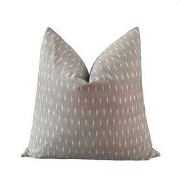 AMAR  Ikat Pillow Cover  Warm Gray Cotton  Origin: India | Etsy | Etsy (US)