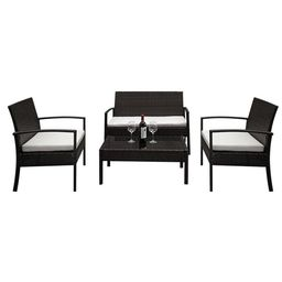 Ktaxon 4PCS Outdoor Patio Garden Wicker Furniture Rattan Convensation Sofa Set   Walmart (US)