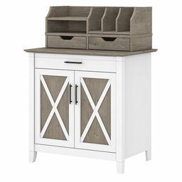 Bush Furniture Key West Secretary Desk with Storage and Desktop Organizers   Walmart (US)