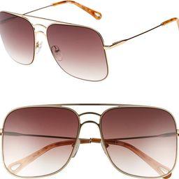 ́ 58mm Metal Navigator Sunglasses | Nordstrom Rack