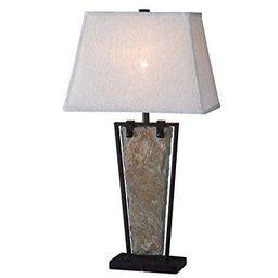 kenroy home 32227sl free fall table lamp, natural slate   Walmart (US)