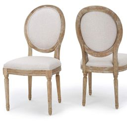 Christopher Knight Home Phinnaeus Beige Fabric Dining Chair (Set of 2), 2-Pcs Set | Amazon (US)
