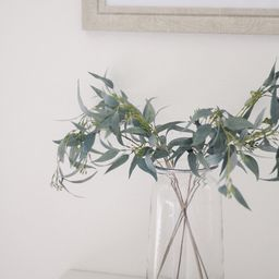 """Artificial Seeded Eucalyptus Leaves - 23"""" Tall 