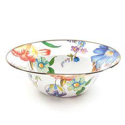 Flower Market Serving Bowl - White | MacKenzie-Childs