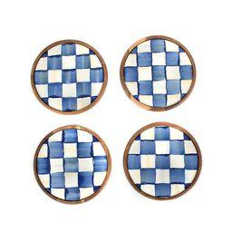 Royal Check Enamel Coasters - Set of 4 | MacKenzie-Childs