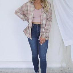 Campfire Song Blush Plaid Flannel | The Pink Lily Boutique