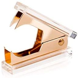 SIRMEDAL Chic Ultra Clear Acrylic and Gold Staple Remover for Office School Home, Desk Accessorie...   Amazon (US)