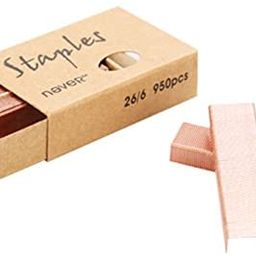 MultiBey Rose Gold Staples Stapler Refill Standard Size #12, 4 Boxes per Pack (Rose Gold)   Amazon (US)