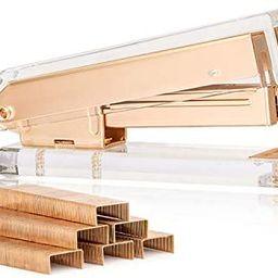 SIRMEDAL Elegant Ultra Clear Acrylic Office Supplies Acrylic Stapler Matte Gold Desktop Stapler w...   Amazon (US)