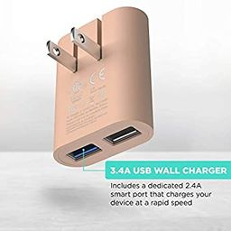 iHome AC Pro 3.4 Amp 2-Port USB Wall Charger, Flat Foldable Plug for iPhone 12/12 Pro/12 Pro Max/...   Amazon (US)