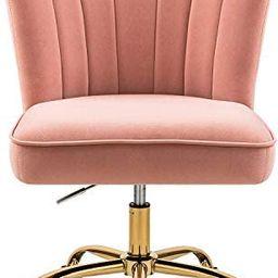 MOJAY Home Office Chair Modern Comfortable Velvet Desk Chair,360° Swivel Height Adjustable Recep...   Amazon (US)